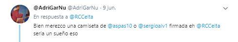 Twit de Adrián